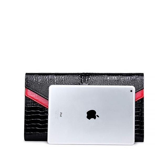 REALER Brand Genuine Leather Bags Women Crocodile Pattern Leather Shoulder Bag Evening Clutch Wallet Purse Chain Messenger Bag