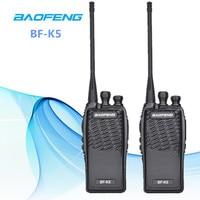 2 pcs 100% Original Baofeng Radio Communicator BF K5 Walkie Talkie Hotel Handheld Transceiver Radio Cb K5 Radio Woki Toki