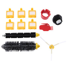 цена на Replacement Part Kit for Roomba Bristle Brush Flexbile Beater Side Brush Hepa Filter for Irobot Roomba 600 Series Vacuum Cleaner
