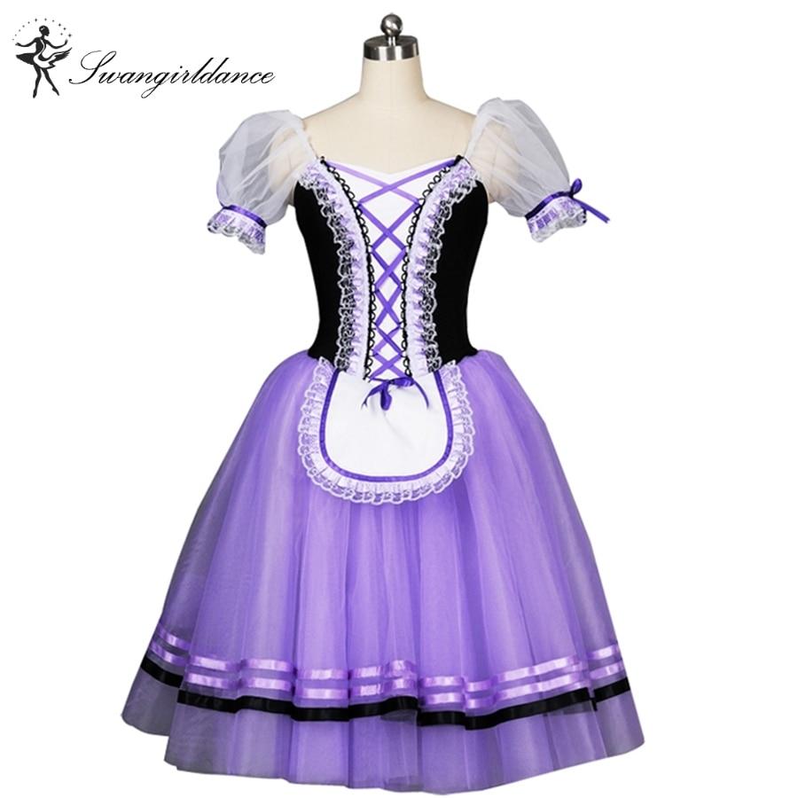 Violet Giselle Ballet Tutu robe, adulte rose romantique ballet tutu robe filles marron ballerine robe BT8904