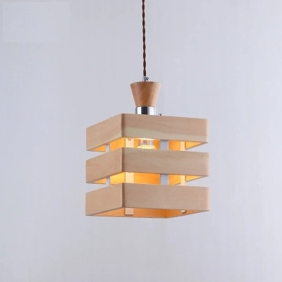 Nordic Simple Wooden Droplight Modern LED Pendant Light Fixtures For Dining Room Hanging Lamp Indoor Lighting Lamparas nordic simple iron droplight modern led pendant light fixtures for living dining room hanging lamp indoor lighting lampara