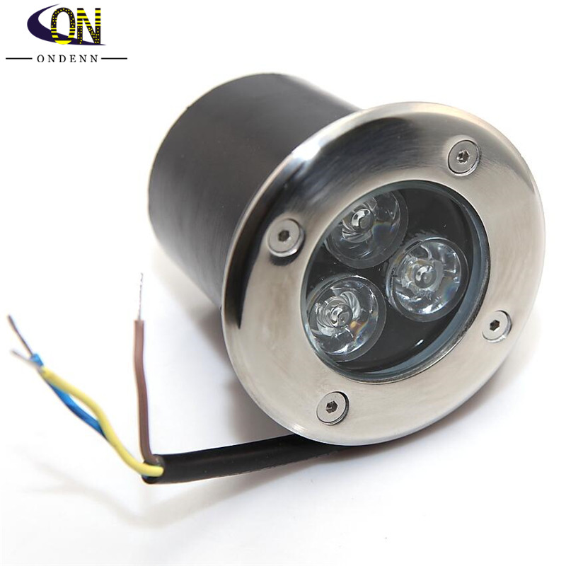 Qualified 3*3w Led Underground Light Lamps Outdoor Buried Recessed Floor Lamp Waterproof Ip67 Landscape Stair Lighting Dc12v/85-265vac Led Underground Lamps Led Lamps