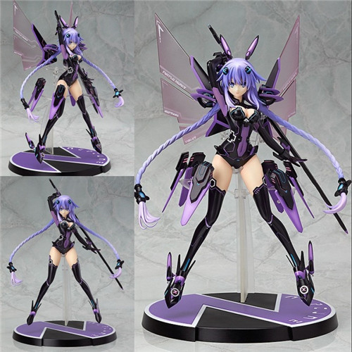 New 1PC 32CM Kawaii Anime Hyper Dimension Game Neptune Purple Heart Neptune Goddess PVC Action Figure Collectible Model Toy new 1pc 32cm kawaii anime hyper dimension game neptune purple heart neptune goddess pvc action figure collectible model toy