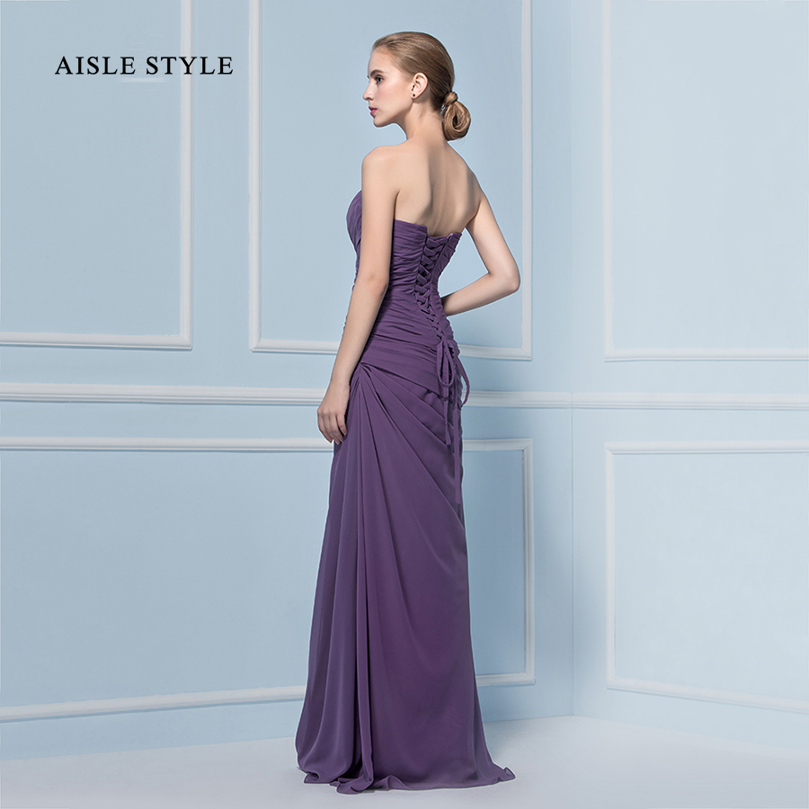 Comfortable Purple Strapless Bridesmaid Dresses Pictures Inspiration ...
