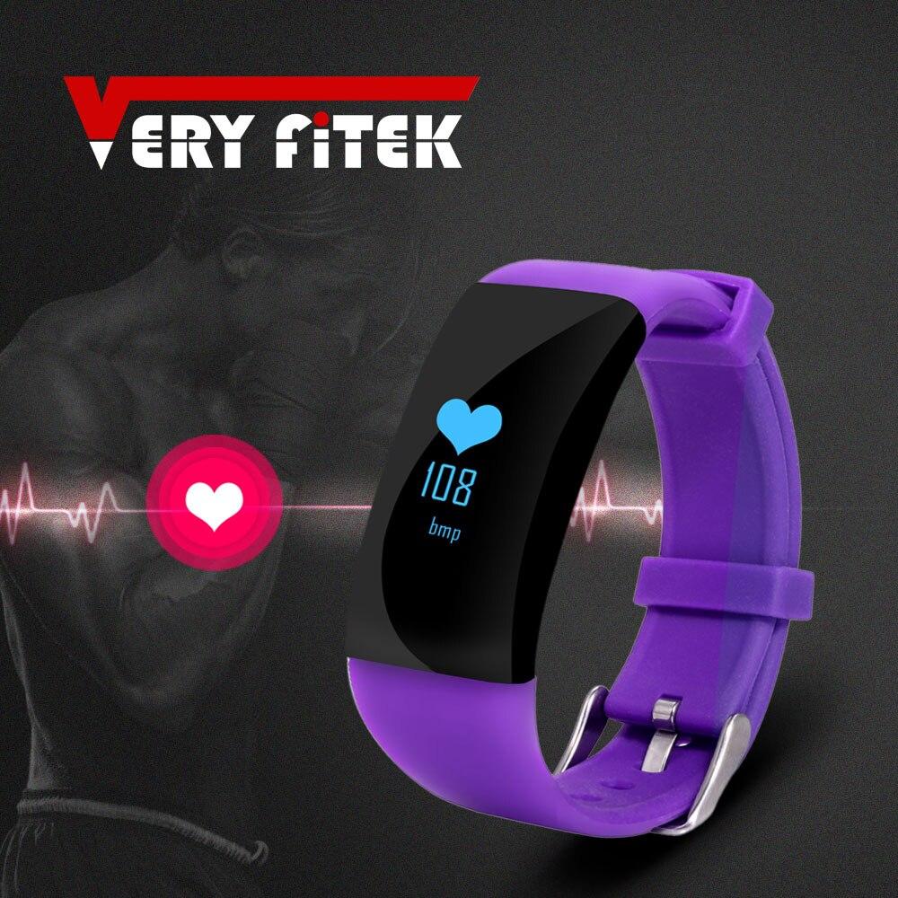 Veryfitek D21 Smat Band Heart Rate Monitor Smart Bracelet Waterproof Fitness Tracker Watch Clock Smartband for