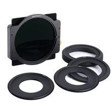 K&F Concept ND1000 Square Filter 100mmx100mm Lens Filter With Metal Holder + 7pcs Adapter Rings for Canon Nikon Sony Camera Lens nisi 150mm filter holder for olympus 7 14mm lens square filter aviation aluminum quick realise square holder dhl free shipping