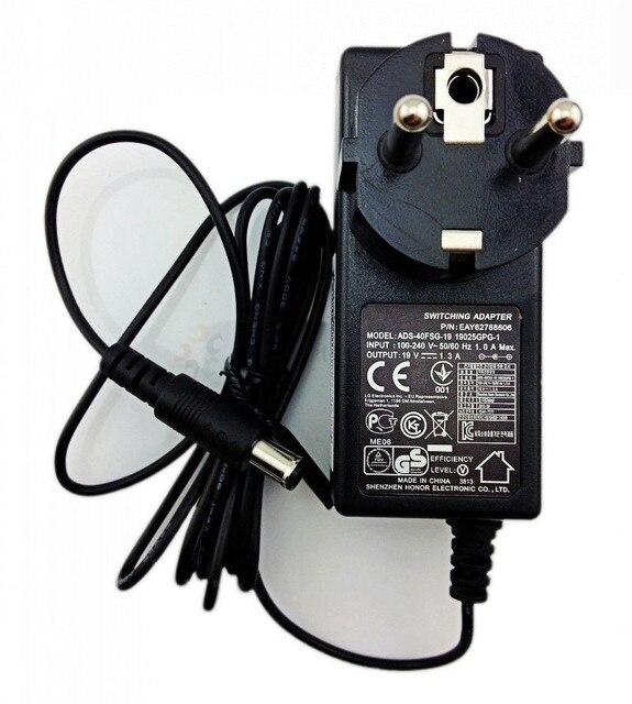 """האיחוד האירופי תקע חשמל מתאם מטען קיר 19 V 1.3A/1.2A עבור ADS-40FSG-19 LG E1948S E2242C E2249 6.5*4.4 מ""""מ עם פינים בפנים"""