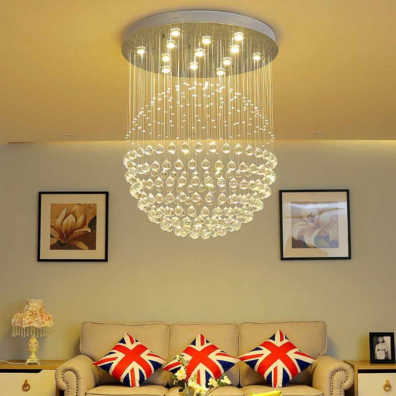 Modern minimalist restaurant chandelier circular crystal lamps Led lustre hanging line lamp Living room bedroom chandeliers цена 2017