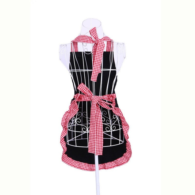 Aliexpress.com : Buy 1 Pcs Fashion 4 Colors Bowknots Pockets Design Kitchen  Cooking Grid Pattern Princess Cotton Apron Hot From Reliable Apron  Wholesalers ...