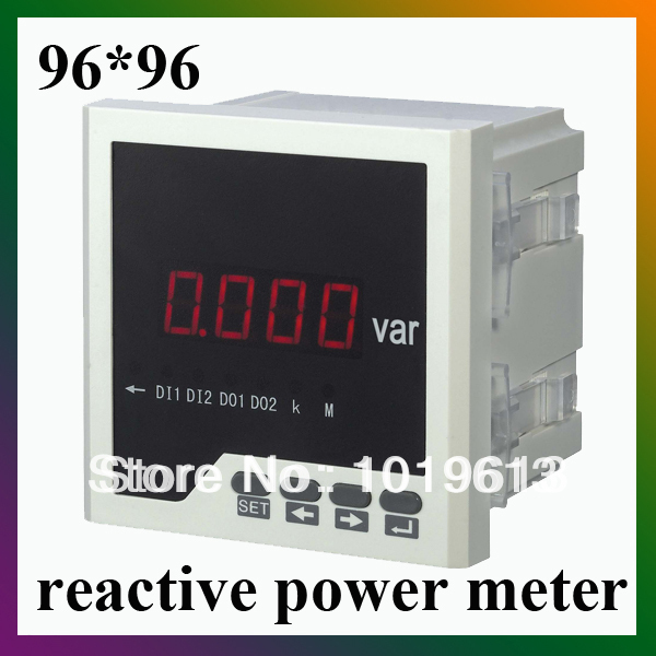 single phase reactive power meter power factor meter watt 96*96 LED display me 3h61 72 72mm led display 3 phase digital power factor meter support switch input and transmitting output
