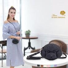 цена на Adamo 3D Bag Original Mini Poodle Sling Bag Handbags Women Famous Brands Big Casual Women Bags