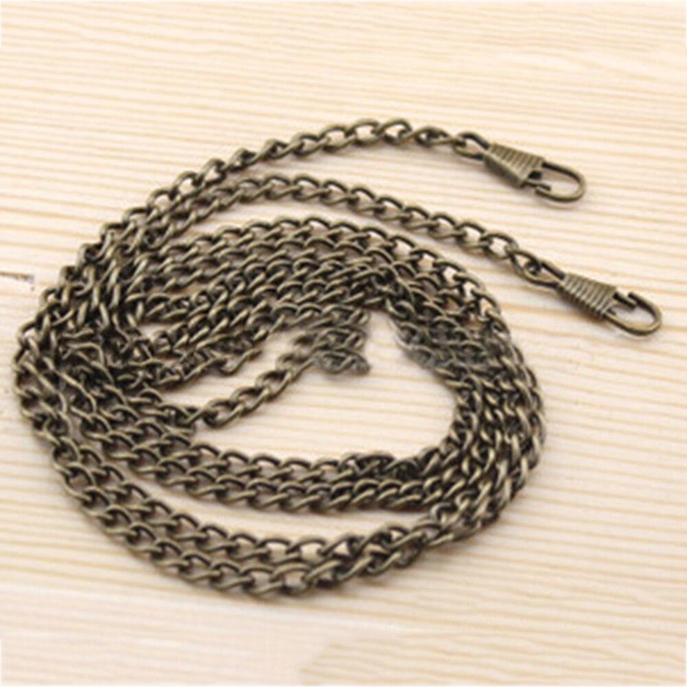120cm/60cm/40cm Long Metal Purse Chain Strap Handle Handle Replacement For Handbag Shoulder Bag 4 Color