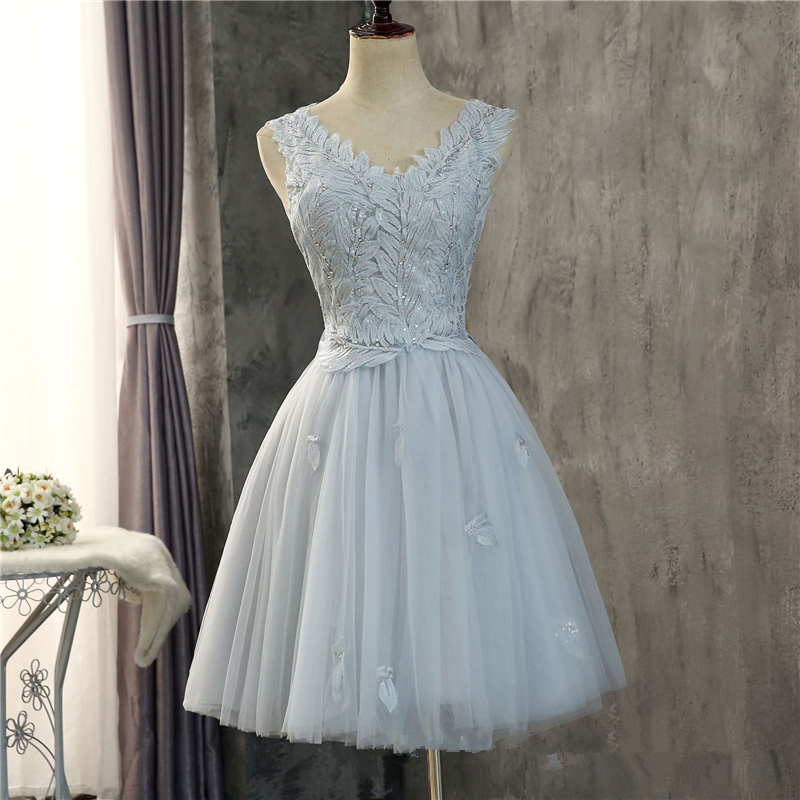 Bealegantom Short   Prom     Dresses   2018 Tulle Applique Homecoming Cocktail Party Special Occasion Gown Vestido Fiesta QA1532