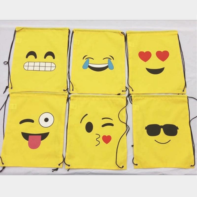 Funny Emoticon Waterproof Swimming Storage Backpack Travel Shoulders Bag Storage Shoes Bag Water Sports Travel Portable Bag