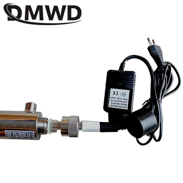 Dmwd uv water sterilizer ultraviolet tube lamp direct drink water disinfection treatment filter aquarium fish tank purifier 12w
