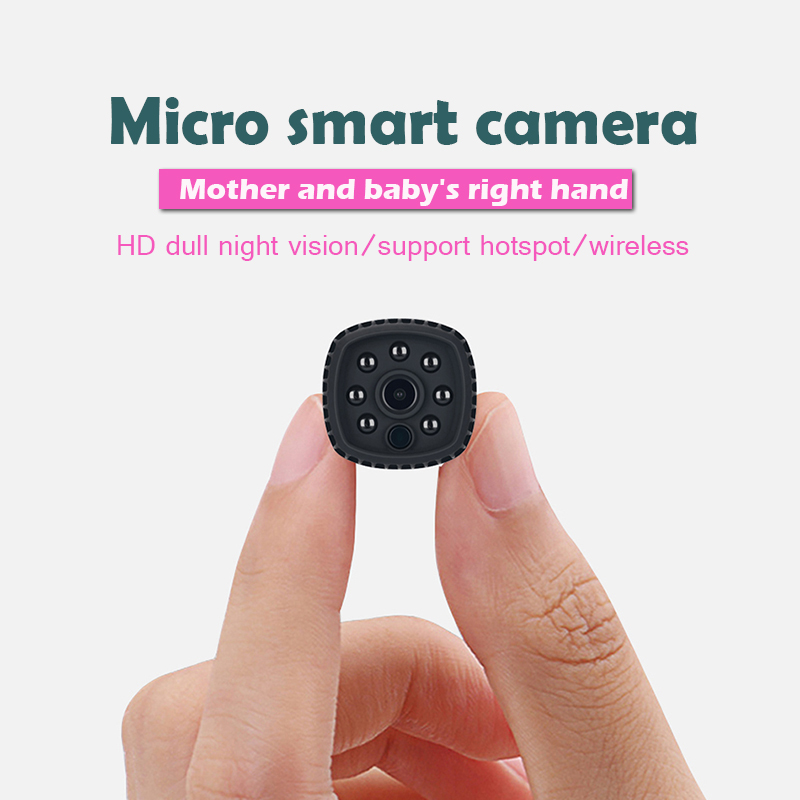 Wifi mini wireless ip night vision camera FHD 1080P mini camera ip small micro camera supports 128GB memory expansion-in Webcams from Computer & Office