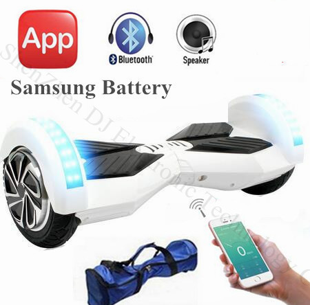 8 inch two wheel balance scooter bluetooth samsung battery. Black Bedroom Furniture Sets. Home Design Ideas