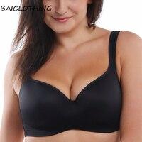 BAICLOTHING Womens No poke Big Size Full Coverage Underwire Contour Balconette T Shirt Bra 34 36 38 40 42 44 B C D DD DDD/E