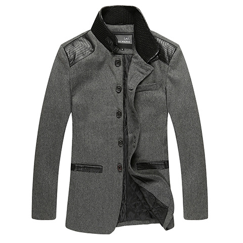 New 2017 autumn winter men's windbreaker man wool trench coat men thickening woolen cashmere coat outerwear free shipping