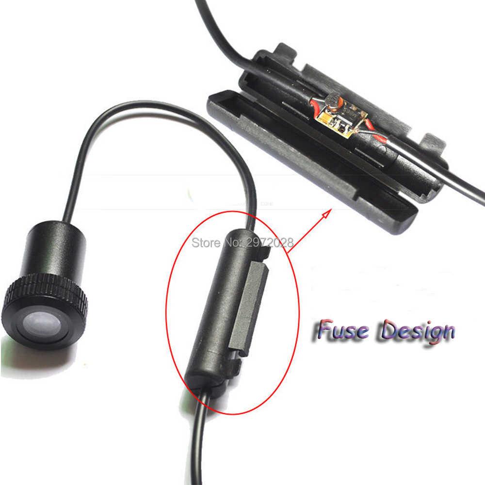 2 х Каратель Череп серии 5 Вт Светодиодный лазер на автомобиль логотип огни двери Добро пожаловать Призрак теневой проектор двери лампы подсветки