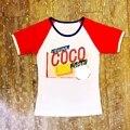 Da mulher diamante cor gola redonda mangas set trado letras T-shirt de manga curta