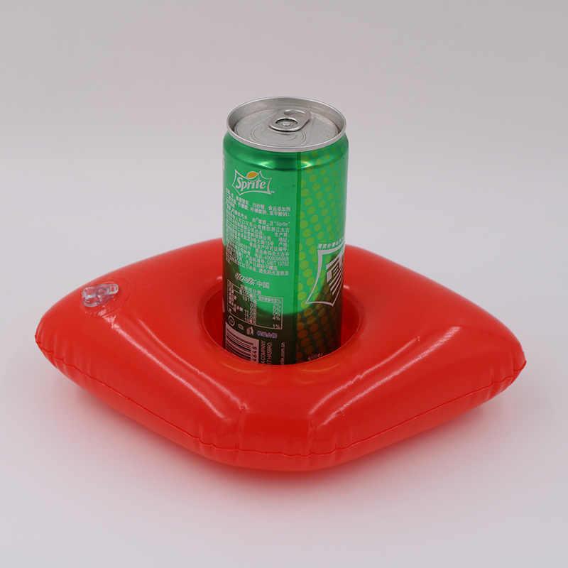 ตกแต่ง Mini inflatable ยูนิคอร์น Flamingo ริมฝีปากเครื่องดื่มลอยถ้วย PVC สระว่ายน้ำอาบน้ำ Beach ของเล่นเด็ก