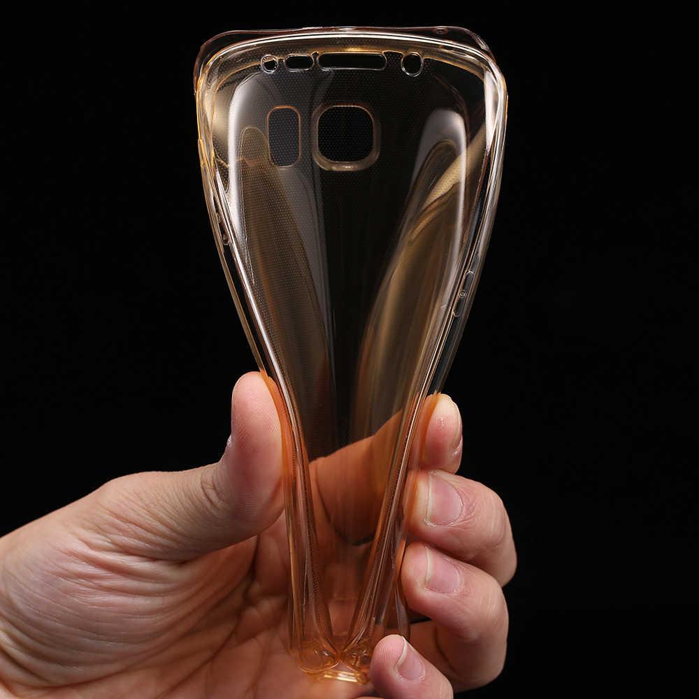Dla iPhone 7 5 5S 6 6 S Plus dla Samsung Galaxy A3 A5 A7 J3 J5 2016 S3 S4 s5 S6 S7 krawędzi Plus TPU 360 stopni jasne miękki pokrowiec