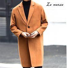 f35c8702863aa Plus Size 2018 Smart Casual Winter Mens Coats Overcoats Fashion Korean  Style Wool Warm Loose Dress