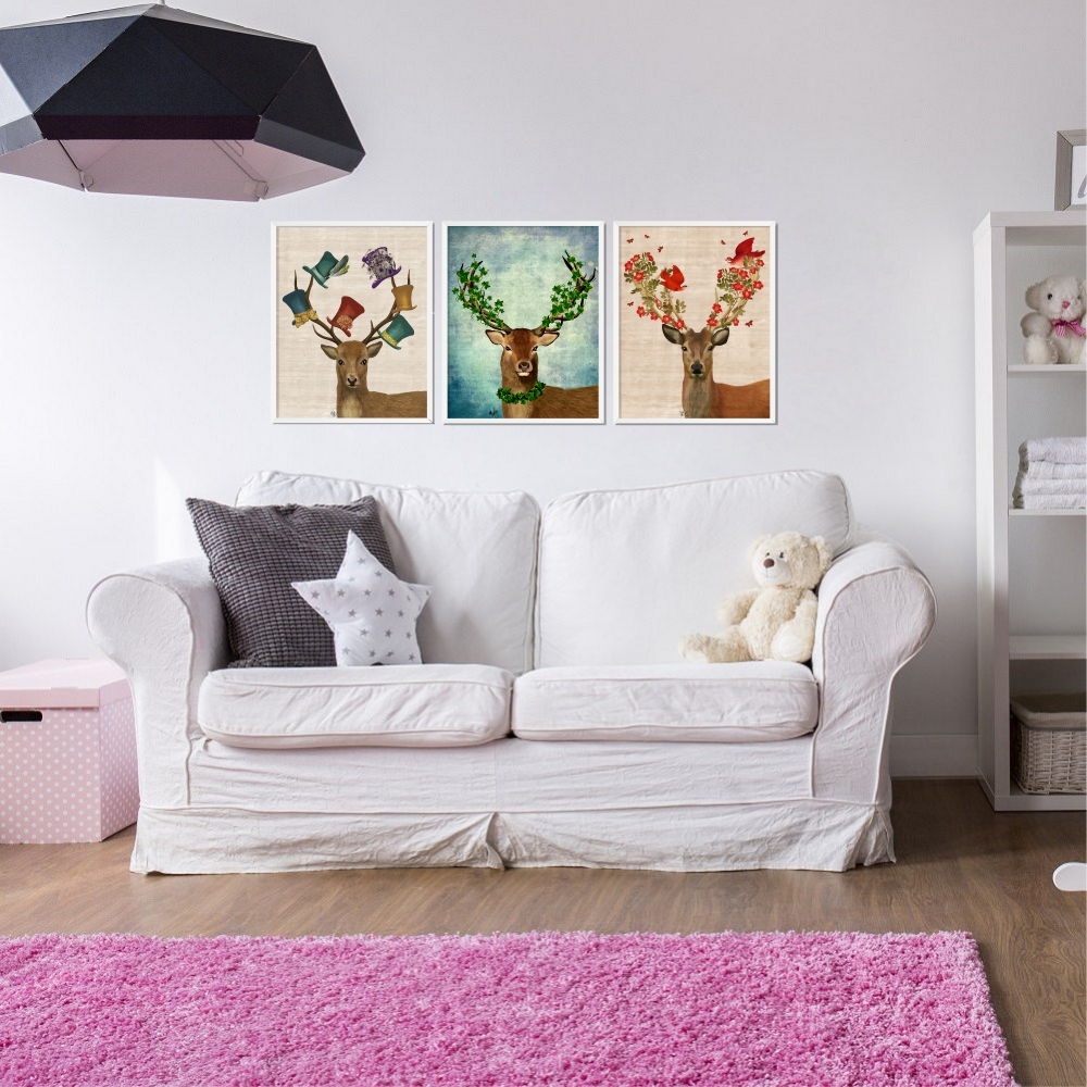 Hirsch Bild Elch Bild Kunst Leinwand Malerei Dekorative Wandbild Tapete Und  Poster No Frame Home Decoration In Hirsch Bild Elch Bild Kunst Leinwand  Malerei ...