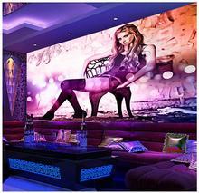 3d wallpaper 3d murals wallpaper for walls 3 d Sexy beauty hotel club KTV tooling background wall paper bedroom wallpaper decor