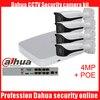 Dahua 4pcs 4MP POE IP Camera DH IPC HFW4421E System Security Camera Outdoor 8CH 1080P NVR4108