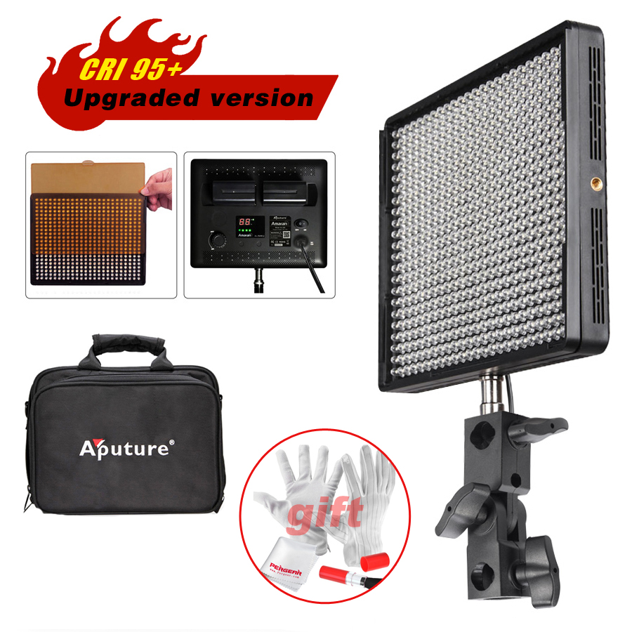 Aputure Amaran AL-528W Led Video Studio Camera Photo Light Panel CRI >95 for DSLR Camcorder Photography Lighting+Cleaning Kit travor 2 in 1 photography 160 led studio lighting kit dimmable ultra high power panel digital camera dslr camcorder led light
