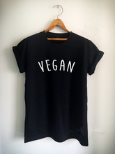 "New arrival ""VEGAN"" Unisex women mens t shirt high quality cotton girls tops Tumblr casual tees t shirt free shipping"