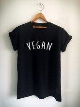 Новое поступление «веган» унисекс Женские Мужские Футболка Высокое качество хлопковые топы для девочек tumblr повседневные футболки футболка бесплатная доставка