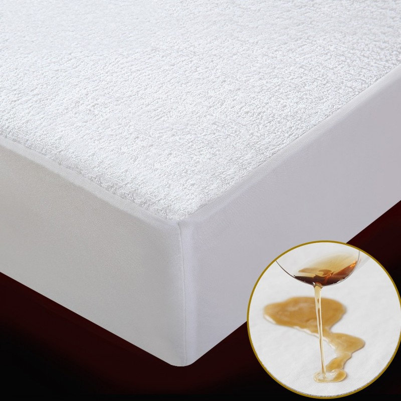 Terry Waterproof Mattress Cover /Mattress Protector Cover For Bed Wetting And Bed Bug Breathable Bed Sheet with an elastic band