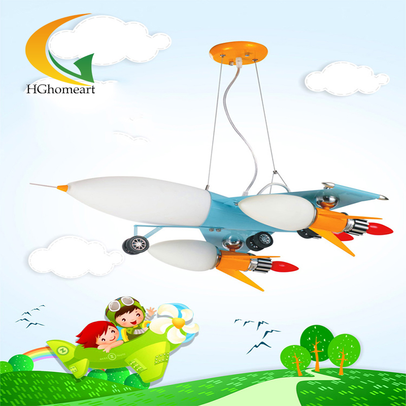 Wrought iron chandelier aircraft lamp boy children master bedroom room LED chandeliers creative cartoon hghomeart creative cartoon chandeliers led crystal chandelier kids room light wrought iron lamp lustre suspension