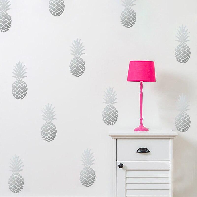 DIY Ananas Ananas Abnehmbare Vinyl Wandaufkleber Für Wohnzimmer Baby - Wohnkultur - Foto 3