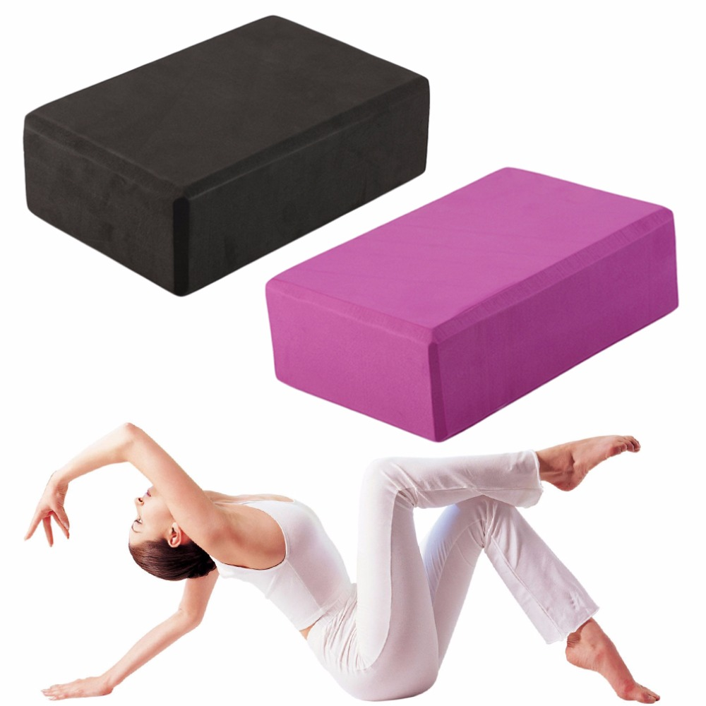 1 Piece Yoga Block Foam Brick Exercise Fitness Sport Indoor Yoga Props Stretching Aid Gym Pilates Summer Fitness Tools 2pcs yoga eva foam roller block pilates massageroller brick yoga stretch belt strap fitness tool for body exercise gym fitness