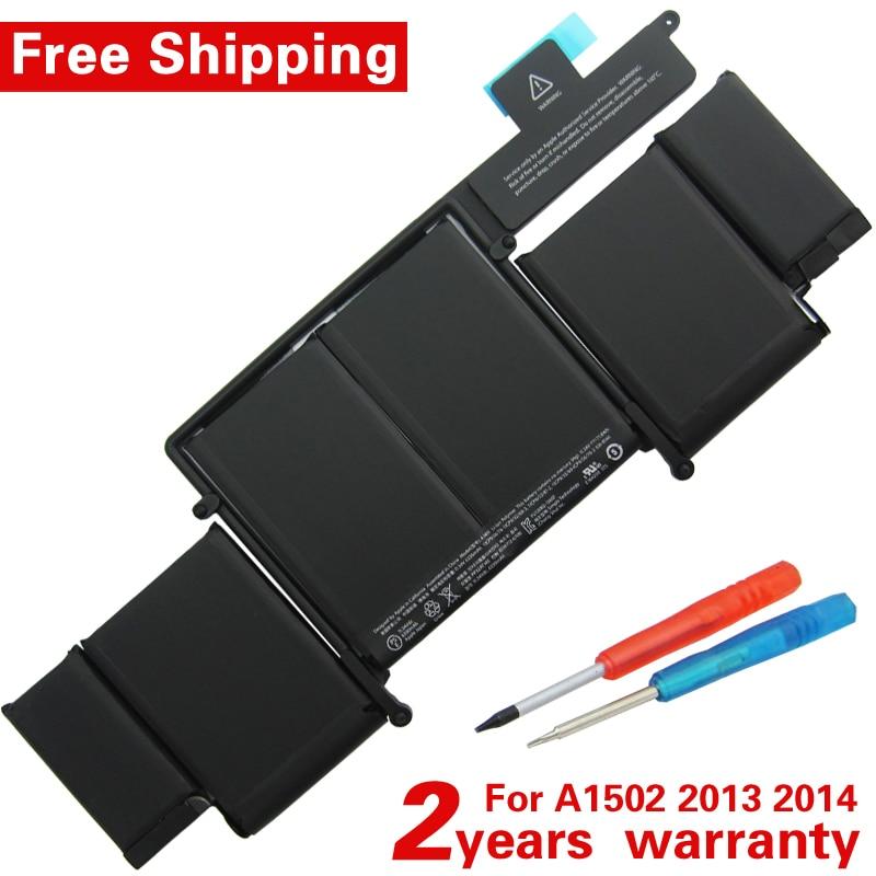 New original A1493 Laptop Battery for Apple MacBook Pro 13 2013 Retina A1502 ME864LL A ME866LL