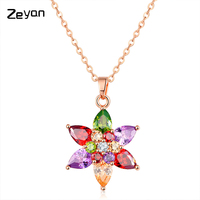 Zeyan 2017 Hexagonal Cubic Zirconia Necklace Pendants Fashion Necklace For Girls For Women Birthday Valentine'sDay ZYCSXL19
