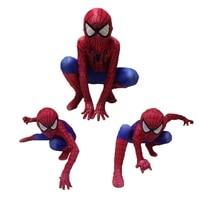 Amazing Spiderman Costume Clothes Suit Boy Kids Children Adult Spiderman Costume Spandex Black Zentai Halloween Cosplay