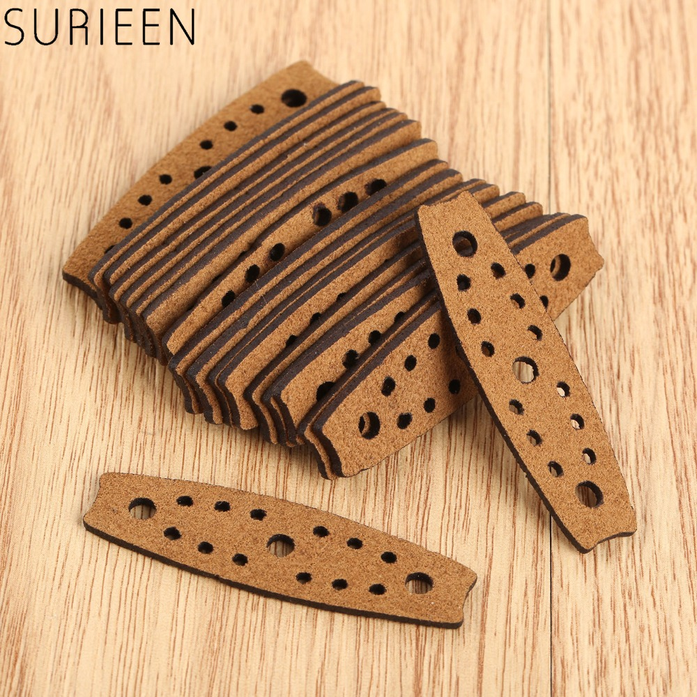 20 Pcs Hunting Microfiber Leather Slingshots Pouches Outdoor Shooting Bow Sling Shots Catapults Replacements 50mmX14mmX8mm Brown