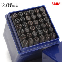 KiWarm 36Pcs 3mm 1 8 Metal Alphanumeric Letter And Capital Number Stamp Die Punch Set For