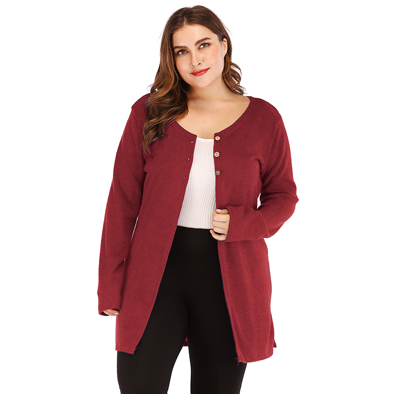 Women's Casual Solid Partial Button Down Cardigan