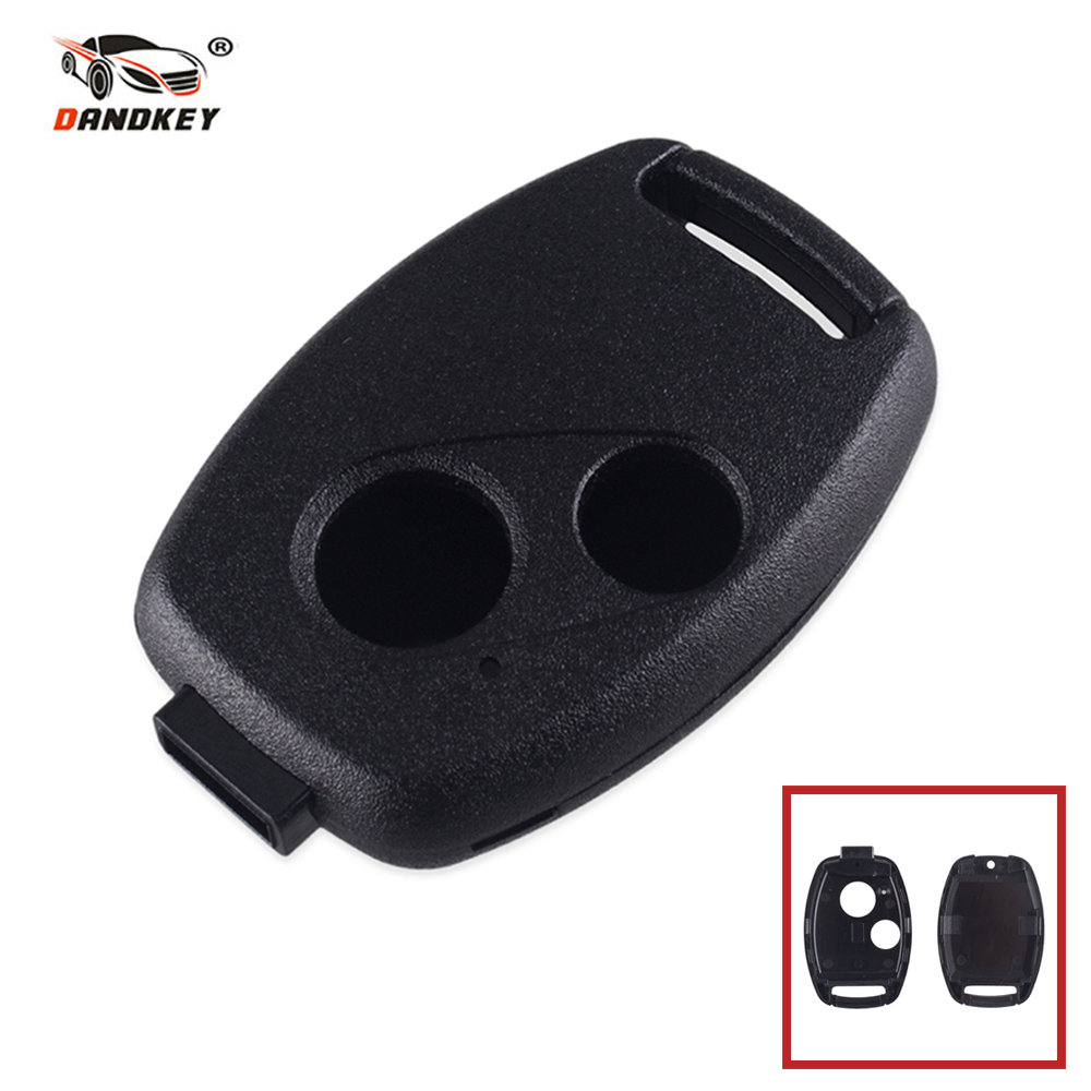 Dandkey 50x New Replacement Remote Key Case Shell Fob 2 Buttons For Honda Accord CRV Pilot Civic Without Blade Key Cover Shell new car remote key fob cover case holder protect for honda 2016 2017 crv pilot accord civic fit freed keyless entry car styling