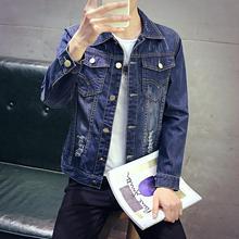 New 2016 spring denim jacket men's clothing Handsome fashion clothing, discount promotion