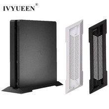 IVYUEEN Black / White Anti Slip Vertical Stand Dock Mount Cradle Holder For Sony PlayStation 4 PS4 Slim Console Game Accessories