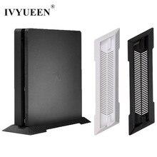 Ivyueen suporte vertical antiderrapante, base para console sony playstation 4, ps4 slim, preto/branco acessórios do jogo