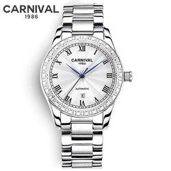 Pulseira de relógio Das Mulheres Relógios Senhoras de Aço Criativo Relógios Feminino Relógio Mecânico Automático Relogio feminino Montre Femme