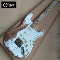 새로운 스타일의 높은 품질 유물 남아있다 세인트 전기 기타, 수제 ST 세 메이플